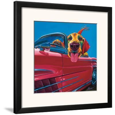 Dog About Town-Ron Burns-Framed Art Print