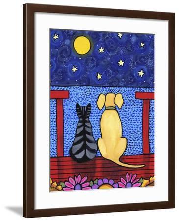 Dog And Cat Stars-Shelagh Duffett-Framed Giclee Print