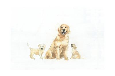 Dog and Puppies-Emily Adams-Art Print