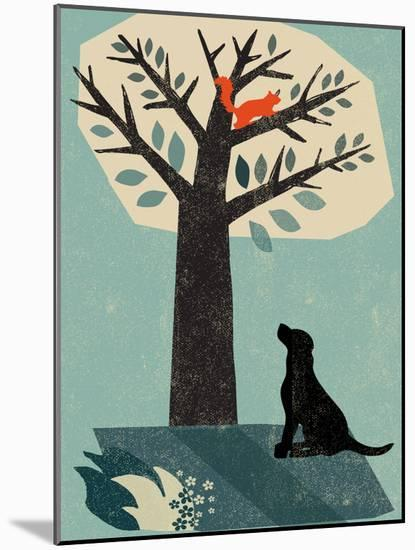 Dog and Squirrel-Rocket 68-Mounted Giclee Print