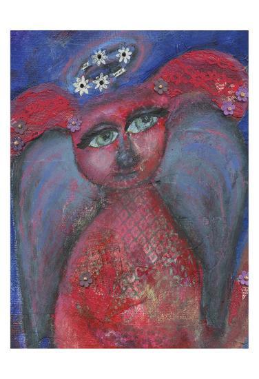 Dog Angel-Cherie Burbach-Art Print
