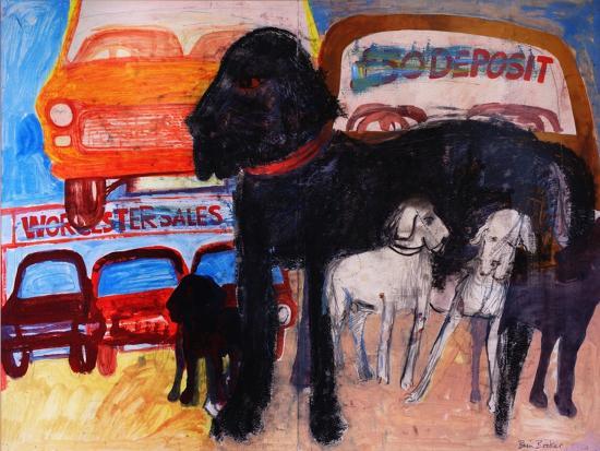 Dog at the Used Car Lot, Rex-Brenda Brin Booker-Giclee Print