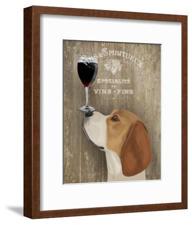 Dog Au Vin Beagle by Fab Funky Dog Print 13x19