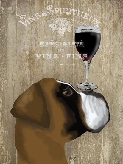 Dog Au Vin Boxer-Fab Funky-Art Print