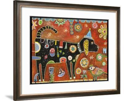 Dog Bella Color-Jill Mayberg-Framed Giclee Print