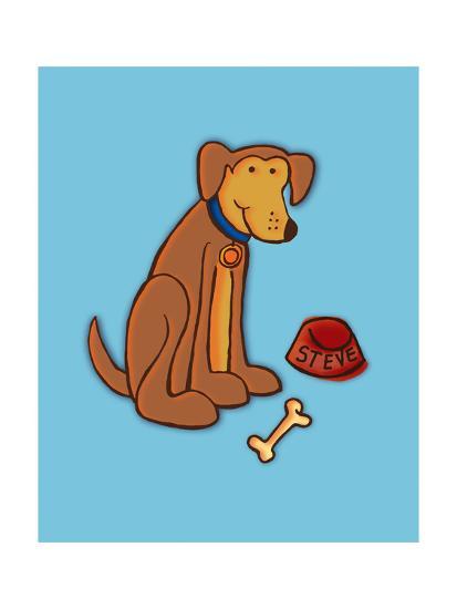 Dog Bone, Card-Esther Loopstra-Giclee Print