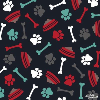 Dog Bowls and Bones-Elizabeth Caldwell-Giclee Print