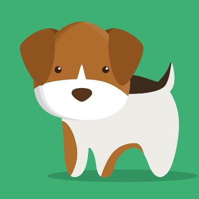 Dog Cartoon Pet Design-Diana Johanna Velasquez-Art Print