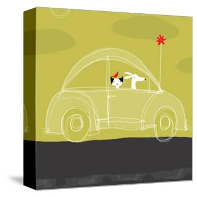 Dog, Cat, Bird in Car