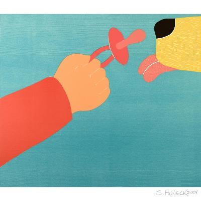 Dog For The Child Child For The Dog-Stephen Huneck-Giclee Print