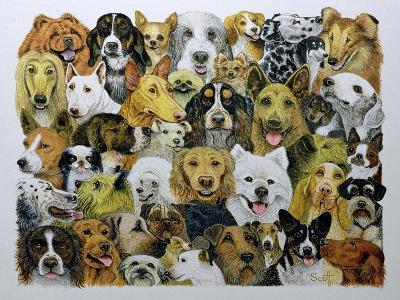 Dog Friends-Pat Scott-Giclee Print