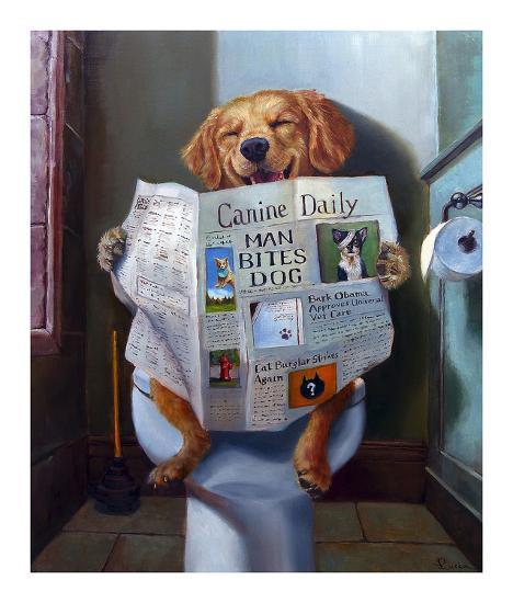 Dog Gone Funny-Lucia Heffernan-Art Print