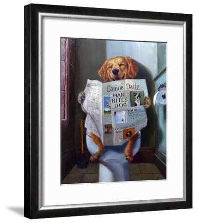 Dog Gone Funny-Lucia Heffernan-Framed Art Print
