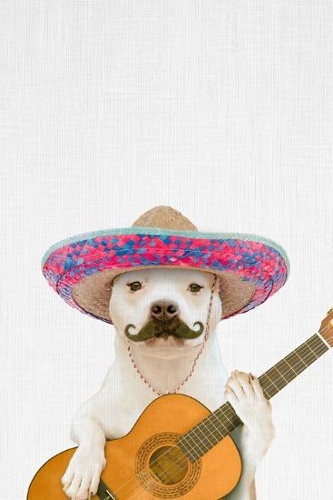 Dog Guitarist-Tai Prints-Premium Giclee Print