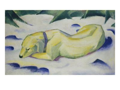 Dog Lying in the Snow, 1910/1911-Franz Marc-Giclee Print
