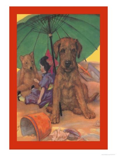 Dog on a Beach-Diana Thorne-Art Print