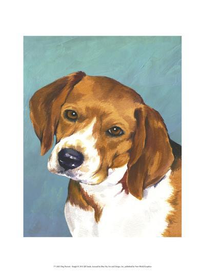 Dog Portrait, Beagle-Jill Sands-Art Print