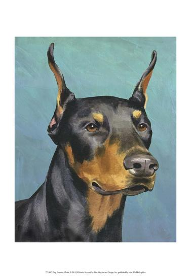 Dog Portrait, Dobie-Jill Sands-Art Print
