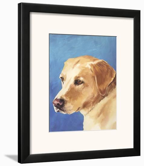 Dog Portrait, Yellow Lab-Jill Sands-Framed Art Print