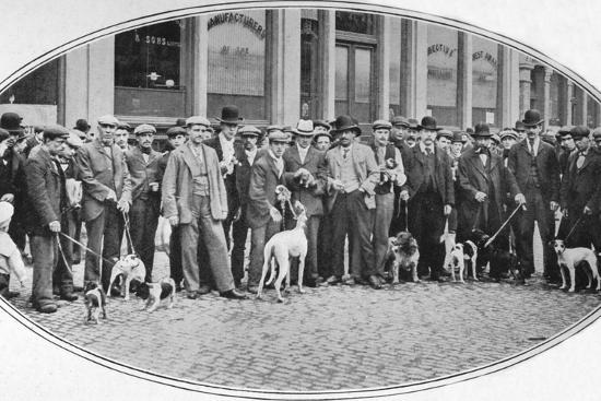 Dog sellers and buyers in the East End, London, c1900 (1901)-Unknown-Photographic Print