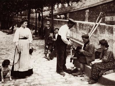 Dog Shearer, Paris, 1900--Photographic Print