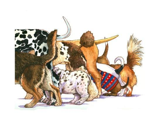 Dog Tails-Wendy Edelson-Giclee Print