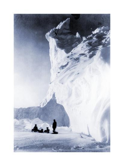 Dog Team Resting During the Terra Nova Expedition, 1910-Herbert Ponting-Photographic Print