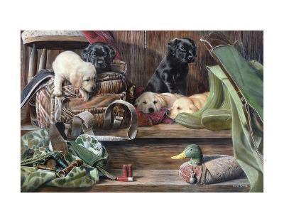 Dog Tired 2-Kevin Daniel-Art Print