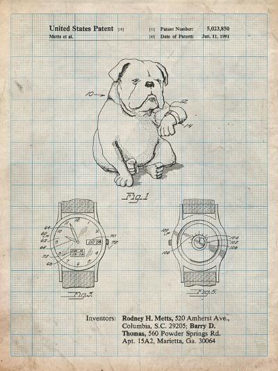 Dog Watch Clock Patent-Cole Borders-Art Print