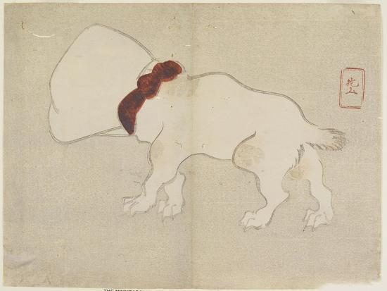 Dog with Bag over its Head, C. 1830- Hogyoku-Giclee Print