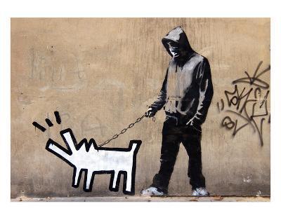 Dog-Banksy-Art Print