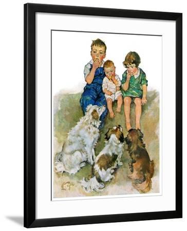 """Doggie Beggars,""May 31, 1930-Ellen Pyle-Framed Giclee Print"