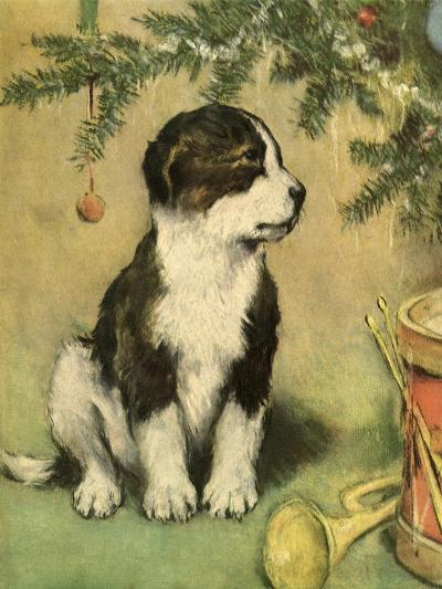 Doggy-Vintage Apple Collection-Giclee Print