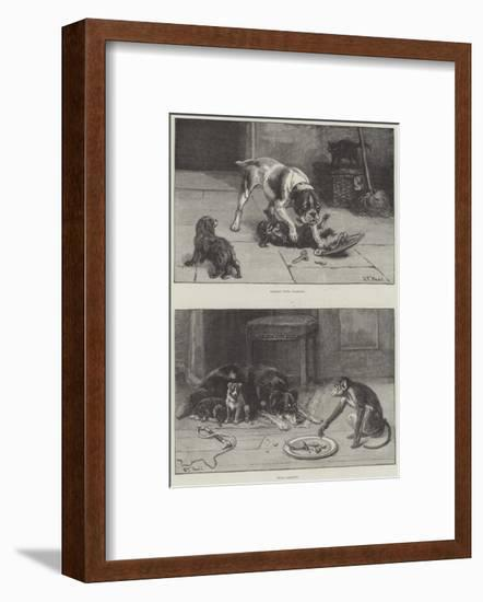 Dogs and Food-S.t. Dadd-Framed Giclee Print