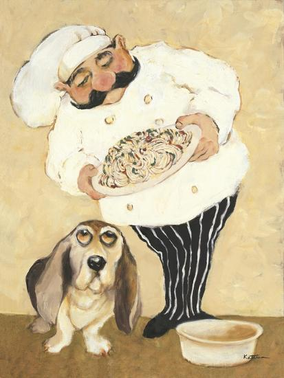Dogs and Pasta-Carole Katchen-Premium Giclee Print