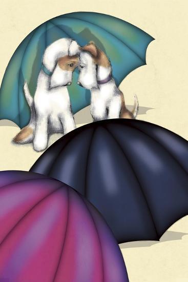 Dogs and Umbrellas-FS Studio-Giclee Print