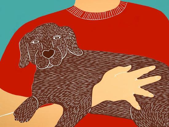 Dogs Can Heal A Broken Heart Choc-Stephen Huneck-Giclee Print