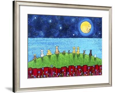 Dogs Full Moon-Shelagh Duffett-Framed Giclee Print