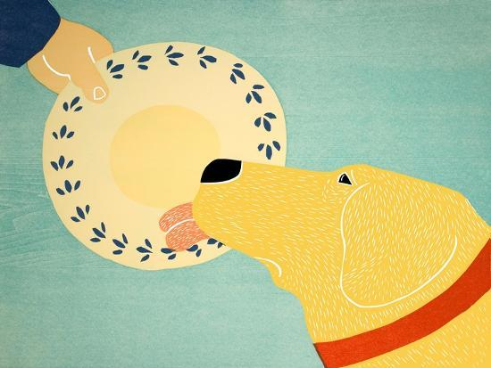 Dogs Like Jobs Yellow-Stephen Huneck-Giclee Print