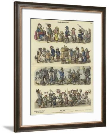 Dogs' Masquerade--Framed Giclee Print