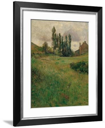 Dogs Running in a Meadow, 1888-Paul Gauguin-Framed Giclee Print
