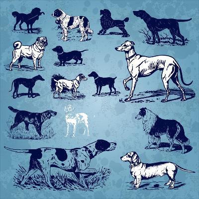 Dogs Vintage- Milalala-Art Print