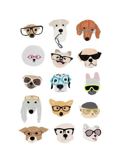 Dogs With Glasses Art Print Hanna Melin Art Com