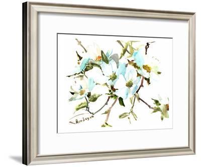 Dogwood Flowers-Suren Nersisyan-Framed Art Print