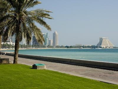 Doha Bay Waterfront, Doha, Qatar, Middle East-Charles Bowman-Photographic Print