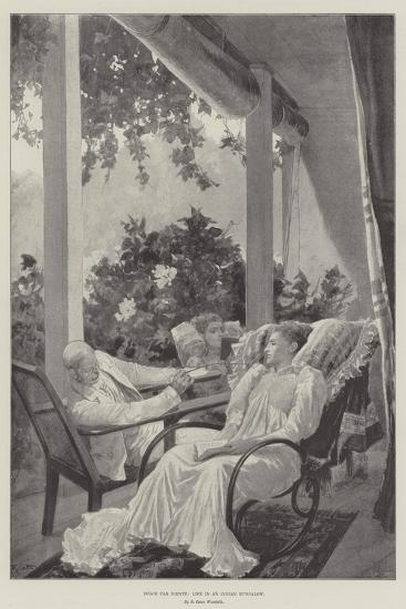 Dolce Far Niente, Life in an Indian Bungalow-Richard Caton Woodville II-Giclee Print