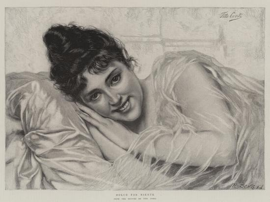 Dolce Far Niente-Tito Conti-Giclee Print