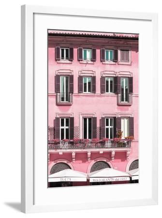 Dolce Vita Rome Collection - Building Facade Pink II-Philippe Hugonnard-Framed Photographic Print