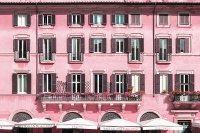Dolce Vita Rome Collection - Building Facade Pink-Philippe Hugonnard-Photographic Print