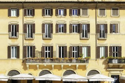 Dolce Vita Rome Collection - Building Facade Yellow-Philippe Hugonnard-Photographic Print